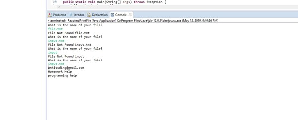 In a class namedReadAndEditFile.java Solved