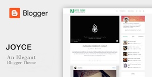 Joyce Clean - An Elegant Responsive Blogger Theme