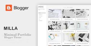 Milla - Minimal Portfolio Blogger Theme
