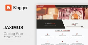 Jaximus - Responsive Coming Soon Blogger Theme