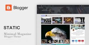 New Static Magz SEO Responsive Blogger Template