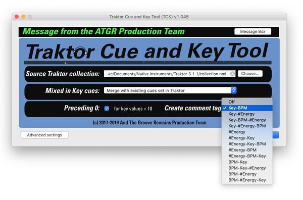 Traktor Cue and Key Tool (TCK) for MacOS