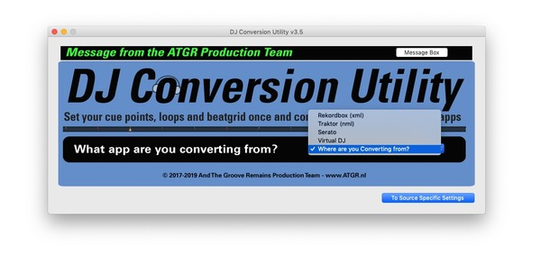 DJ Conversion Utility for MacOS