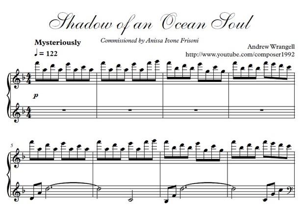 Shadow of an Ocean Soul - Piano Sheet Music