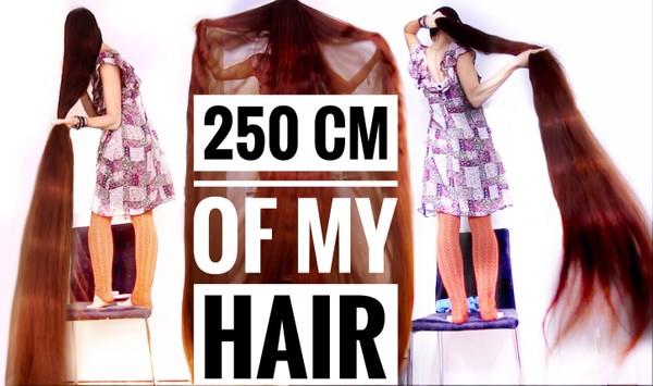 250 cm of my hair