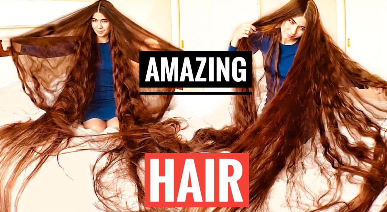 Rapunzel in her bed -My Floor Length Hair-