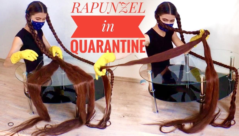 Real-life Rapunzel in quarantine