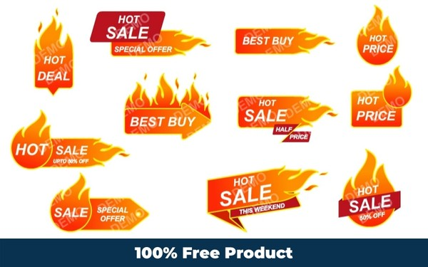 Hot Sticker Graphics (Editable Graphics)
