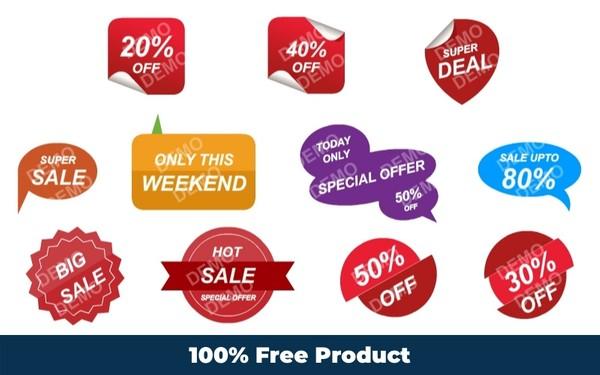 Sale Sticker Tag 1 (Editable Graphics)