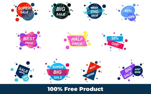 Sales Badge Graphics (Editable Format)