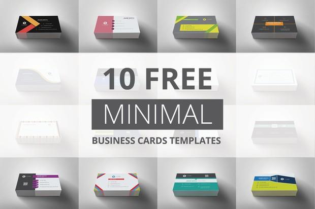 10 free minimal business cards templates colourmoves