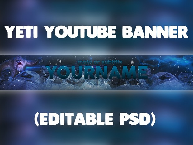 Yeti YouTube Banner Template (PSD Only)