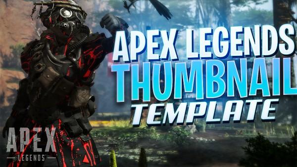 Apex legends thumbnail template free