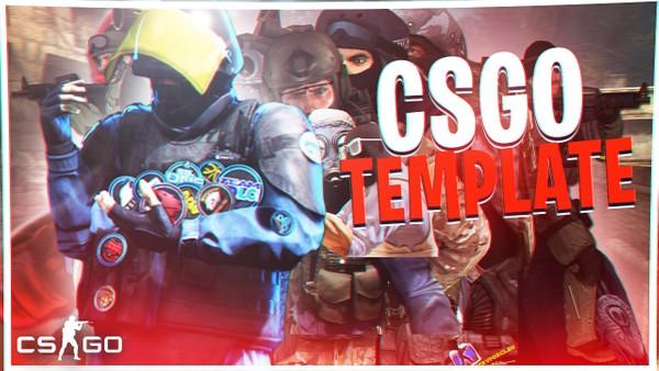Free csgo thumbnail template - gaming thumbnail free