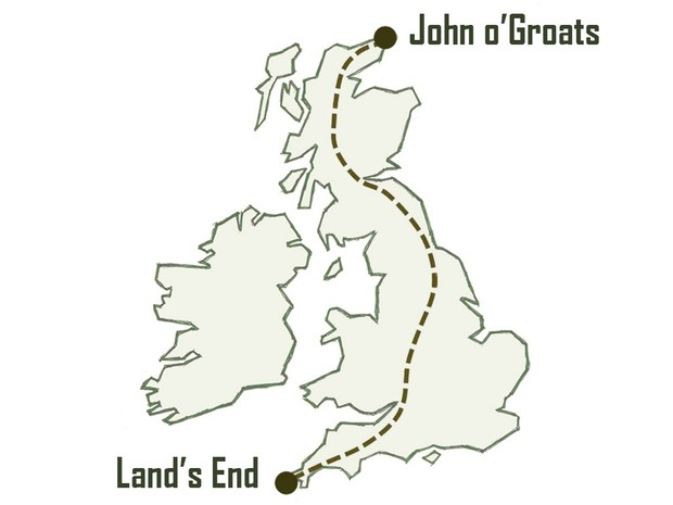 Land's End to John o'Groats cycle route (GPX files)