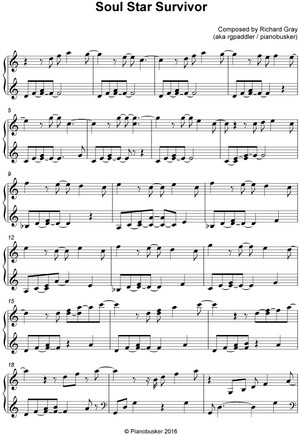 Soul Star Survivor Piano Sheet Music