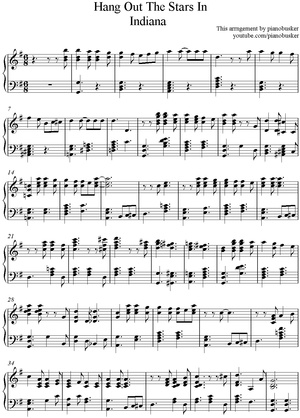 Hang Out The Stars In Indiana (Piano Sheet Music)