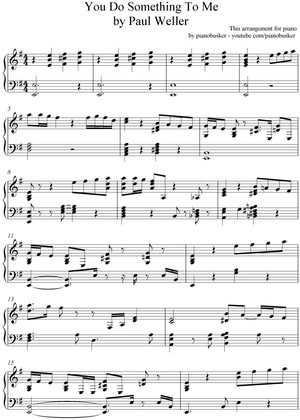 You Do Something To Me (piano sheet music)
