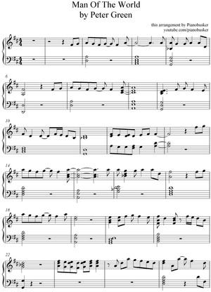 Man Of The World (piano sheet music)