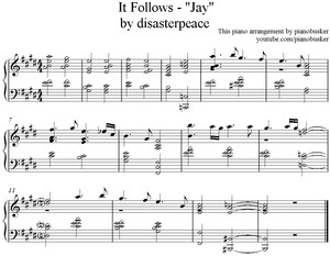 Jays Theme (It Follows) Piano Arrangement