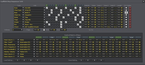 Lauflicht Step Sequencer Launchpad Edition for Renoise