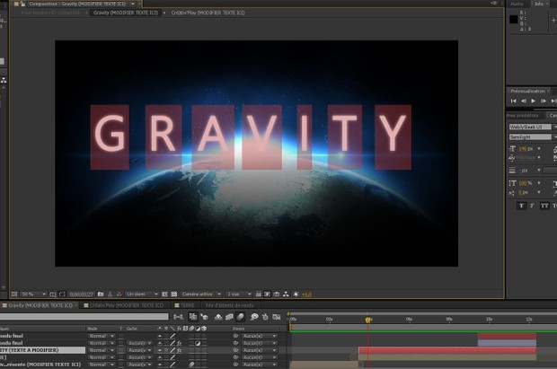 Gravity After Effect Template