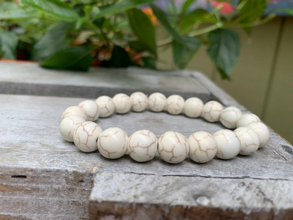 White Turquoise 10mm Stretch Bracelet