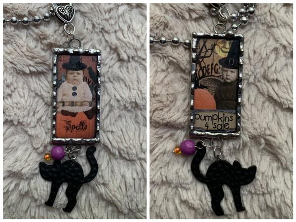 Spell/Pumpkins 4 Sale Soldered Pendant