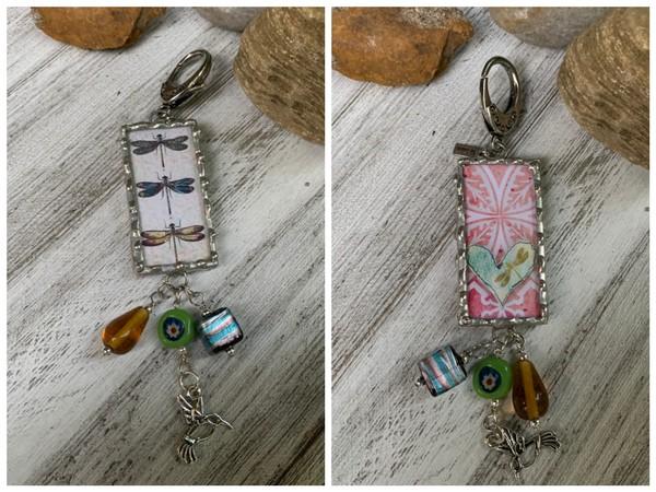 Dragonfly Heart Design Soldered Pendant/Necklace