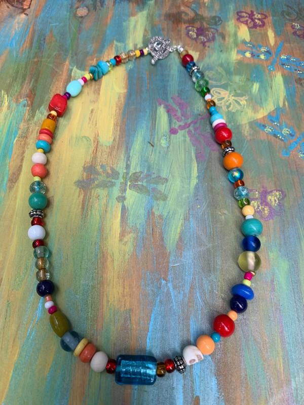 "Fiesta BoHo Colorful 18"" Necklace"
