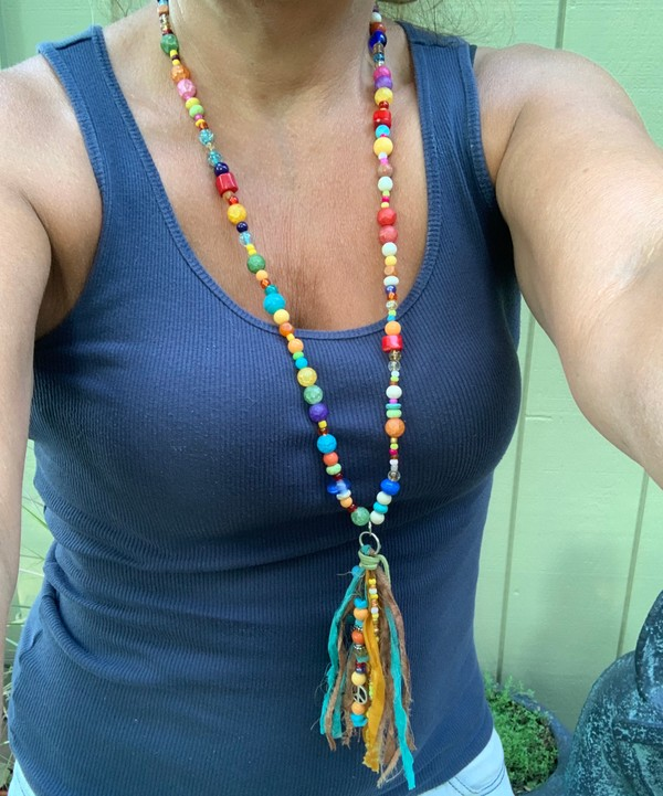 """Fiesta BoHo Tassel 40"""" Necklace"""