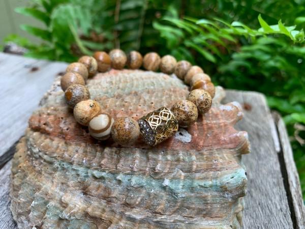 Precious Natural Stone Stretch Bracelet