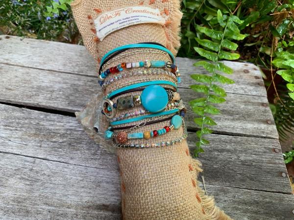 BoHo Endless Beaded Wrap Bracelet **Custom Order Only