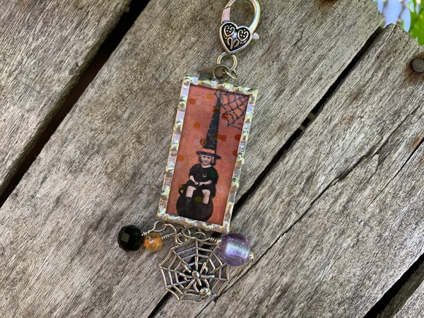 """""""I thought I might like to be a witch"""" soldered pendant necklace"""