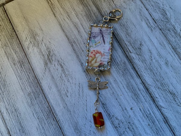 Dragonflies Soldered Pendant Necklace