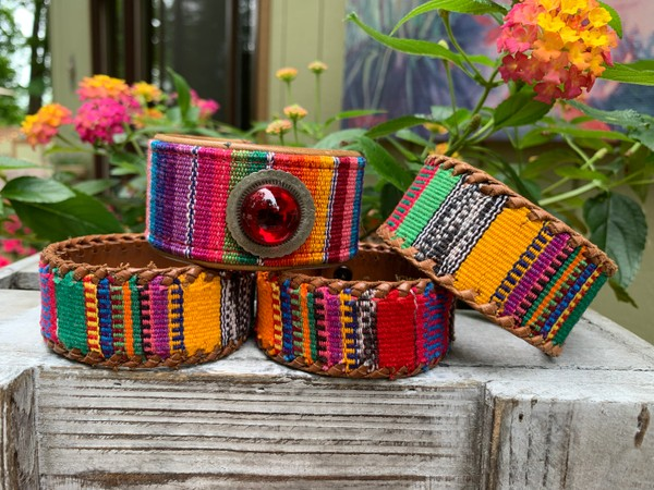 Upcycled Fiesta Leather Cuffs