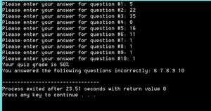 write a program that grades an online