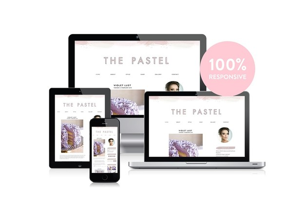 The Pastel - Premade Blogger Template