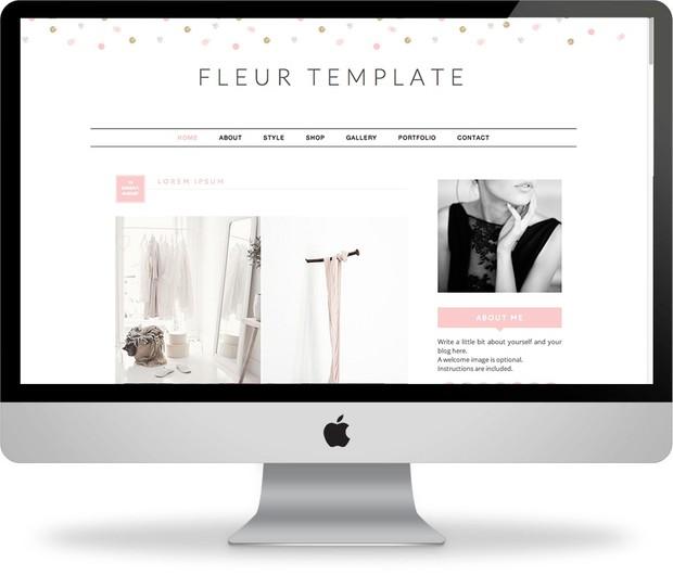 Fleur - Premade Blogger Template