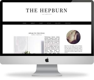 The Hepburn - Premade Blogger Template
