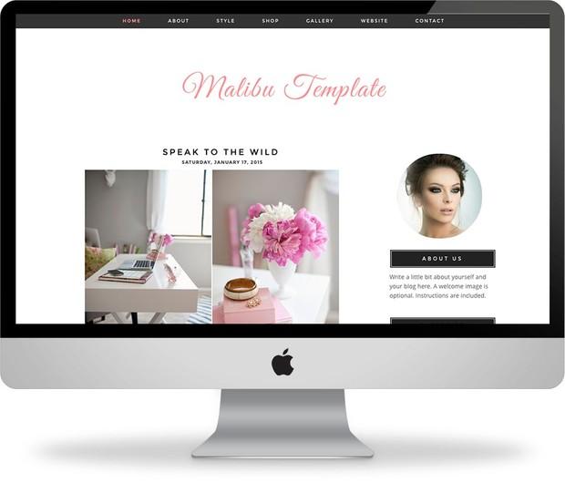 The Malibu - Premade Blogger Template