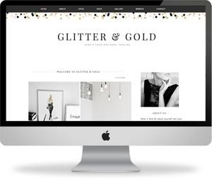 Glitter & Gold - Premade Blogger Template