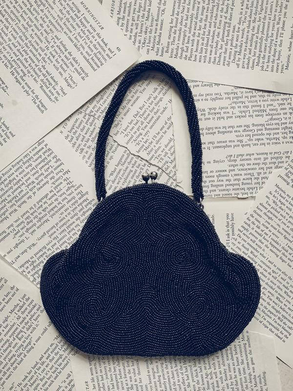 Black Beaded Evening Handbag [Vintage]