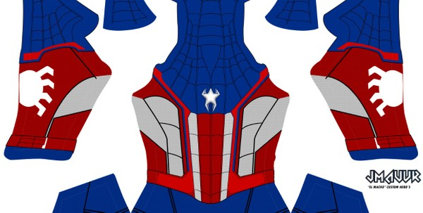 Captain Spider-man Homecoming V1 (no shading)
