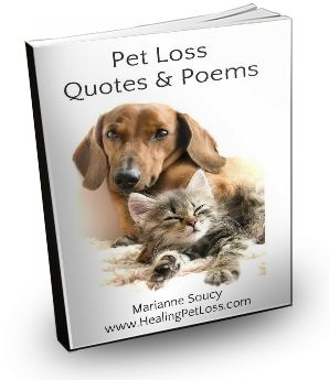 Pet Loss Quotes and Poems e-book (PDF) 17 pages