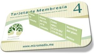 Tarjeta de membresía plan básico
