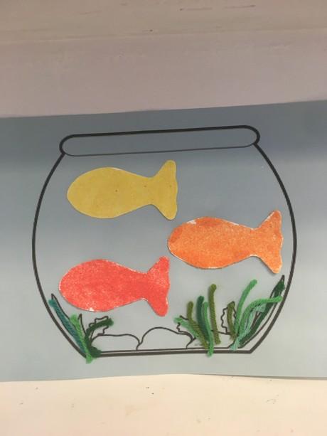 Matisse-Inspired Goldfish (Shipped)
