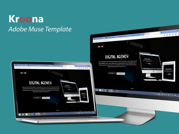 Kroona-Adobe Muse Template