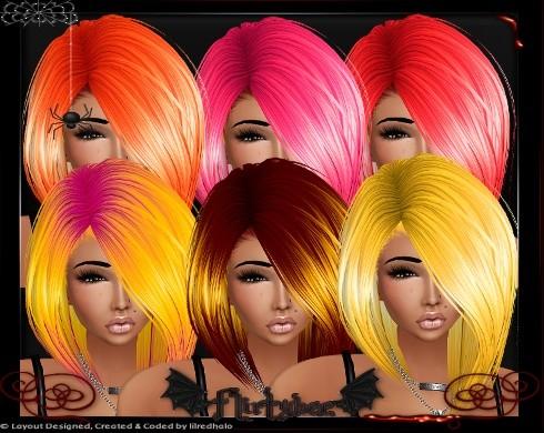 Cyan Candy Coated Hair