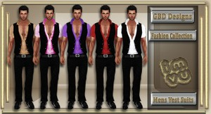 Mens Vest Suit Collection RESELL RIGHTS